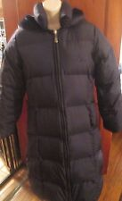 Baby Phat Puffer Long Jacket with Hood - Size M/M - Navy - EUC