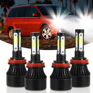 For Dodge Grand Caravan 2011-2019 White LED Headlight Bulbs High Low Beam Lamp