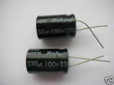 2pcs,Rubycon 100V 330uf Radial Electrolytic Capacitors