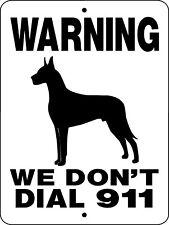 Great Dane Guard Dog Aluminum Sign Vinyl Graphics Applied 911Gd