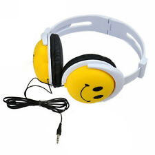 Smile Face Kid Headphone Earphone Headset For Computer MP3 MP4 PSP DJ W7X5