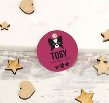 Personalised Pet Tags ID Collar Dog Cat 25mm Paw Print Custom Tag Custom