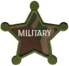 "3"" Woodland Camouflage Kids Military Sheriff Star Patch"