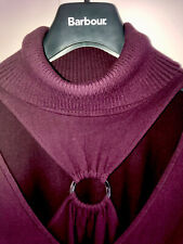 Papillon Rouge Premium Roll Neck Keyhole Front Sweater M/L UK12-16 Burgundy VGC