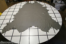 'Stratus Grey' leather hide. Small grain, low sheen. Appx 40sqft R22A10-5Rl