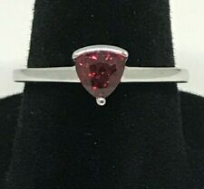 10Kt white gold ring with a solitaire Cubic Ruby ( New )