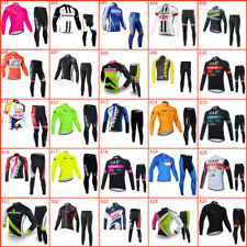 New listing Men Team Cycling Jersey & Pants Set Long Sleeve Bicycle Outfits Bike Sports Wear
