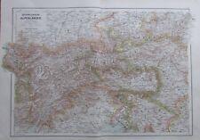 Karte aus 1889 - Österreichische Alpenländer - alte Landkarte old map