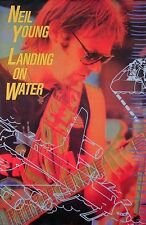Neil Young 1986 Landing On Water Original Promo Poster