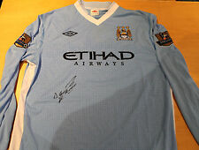 MANCHESTER CITY - SERGIO AGUERO HAND SIGNED  JERSEY  + PHOTO PROOF & C.O.A
