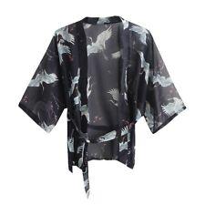 Women Cardigan Japanese Kimono Chiffon Summer Sunscreen Jacket Top Crane Blouse
