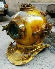 Antique Boston Sea Maritime Diving Helmet Us Navy Deep Sca Vintage Scuba Divers