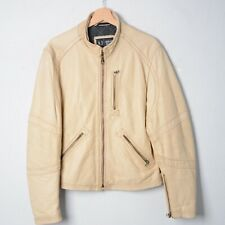 ARMANI JEANS-giubbino in pelle leather jacket tg 50  G75