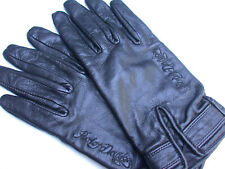 Harley Davidson Leather Riding Gloves Women's Size L EUC Script FREE SHIPPING