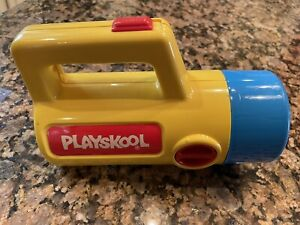 1986 Playskool Yellow Blue Color Changing Clear Green Red Flashlight WORKS GREAT