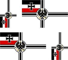 Set of 4x sticker vinyl car bumper flag outdoor germany german imperial wwi