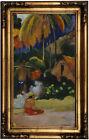 Gauguin Landscape in Tahiti 1892 Wood Framed Canvas Print Repro 12x22