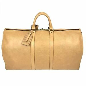 100% Authentic Louis Vuitton Epi Keepall 50 Yellow M41426 [Used] {08-108B}