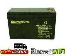 Batería de plomo AGM 12V 7Ah - EnergiVm MVH1270 - UPS/SAI - Recargable