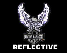 HARLEY DAVIDSON BAR & SHIELD UP WING EAGLE REFLECTIVE 8 INCH PATCH NIGHT VISION