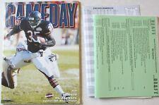 2002 Chicago Bears vs Jacksonville Jaguars Program Media Anthony Thomas Cover