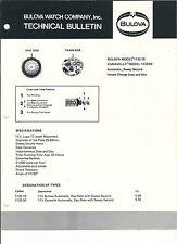 MG-060 - Bulova Watch Company Technical Bulletin 1133.10, Vintage 1978 Illust