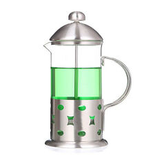 French Press Coffee Maker Tea Carafe Stainless Steel Filter Plunger Bottle 350ml