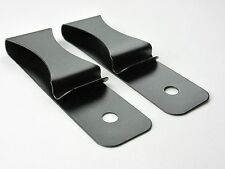 Lot of 50 Spring Steel Metal IWB Tuckable Hybrid Holster Belt Clips - Black