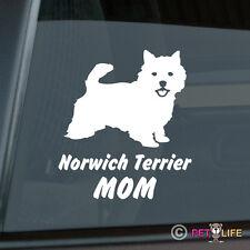 Norwich Terrier Mom Sticker Die Cut Vinyl