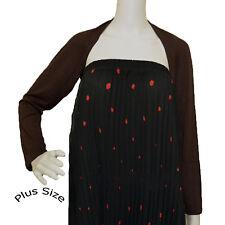 Hayaa DARK BROWN PLUS Size Hijab Muslim One Piece Sleeves Shrug Bolero XL - 3XL