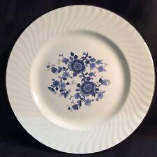 "Vintage Royal Blue Ironstone Enoch Wedgwood 10"" dinner plates (Zz O 2)"