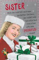 Sister Funny Retro Christmas Greeting Card Humour Xmas Cards