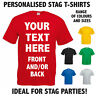 Custom Personalised Stag / Hen T-Shirts - Design Your Own Stag / Party T-Shirt
