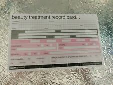 Beauty Treatment Record Cards, Brand New And Sealed