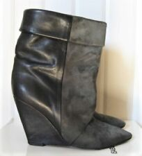 BOTTINES BOOTS GRISES ANTHRACITE ISABEL MARANT AMELY T.38