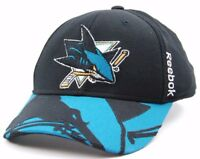 San Jose Sharks Reebok M563Z NHL Team Logo Stretch Fit Hockey Cap Hat