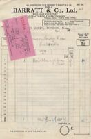 Barratt & Co. Ltd 1954 Manufacturing Confectioners London Receipt Ref 32732