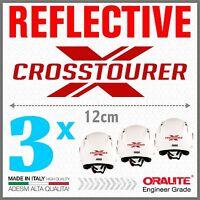 3x Rifrangenti ADESIVI Rosso compatibile con VRF 1200 X HONDA CROSSTOURER moto