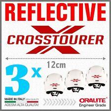 3x Crosstourer X red HONDA VRF1200X ADESIVI PEGATINA STICKERS AUTOCOLLANT
