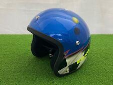 NEW Vintage 1980's ECKO BMX Open Face HELMET BLUE Checkered Flag Custom Design