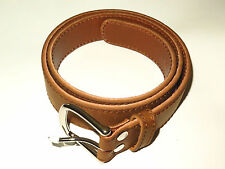 "NEW! Genuine Saddleback Leather 1.5"" WOMEN'S BELT Size SMALL MEDIUM in Tobacco"