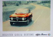 Alfa Romeo Giulia Sprint GT Bertone cartel Perfecto Estado 70cm X 50cm