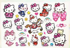 1 Hoja Tatuaje-Hello Kitty Cumpleaños Niños Papel falso tatuaje