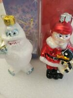 Rudolph the Red Nose Reindeer Series BUMBLE Glass Blown (2)Ornaments Christmas