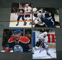 Lot of 3 Autographed Edmonton Oilers 8x10 Photos  Callighen Sutton Cogliano  NHL