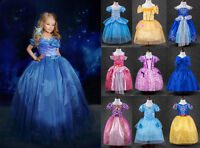 Xmas Girls Cinderella Princess Dress Cosplay Party Costume Kids Fancy Dresses
