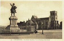 CPA-Carte postale-France -CHERBOURG - Statue Napoléon (iv 722)