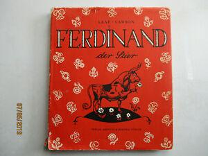 FERDINAND der STIER von MUNRO LEAF-Illus. ROBERT LAWSON   2. Aufl. ca 50er