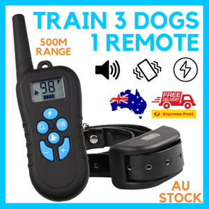 TRAIN 3 DOGS 1 REMOTE TRAINING SOUND VIBRATION ZAPPING m919c 500M DISTANCE