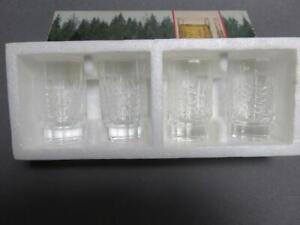 4 Iittala KUUSI christmas tree 1.5 oz glasses in box  Finland 2046.004 J.Vennola